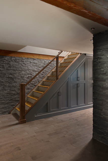 Basement Stair Landing Decorating: By Pinney Designs