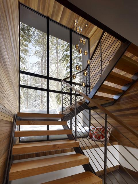 Sugar Bowl Residence rustic-staircase