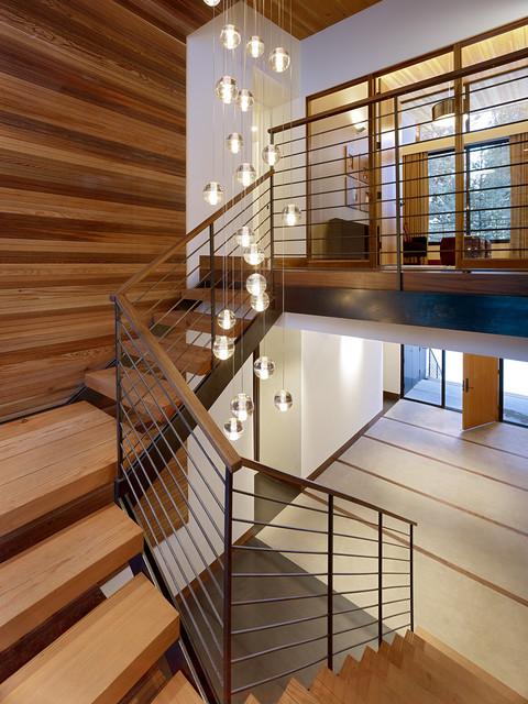 Sugar Bowl Residence midcentury-staircase