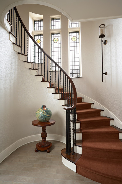 Summit Avenue Duplex Traditional Staircase