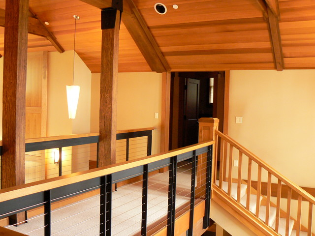 Suncadia Cabins rustic-staircase