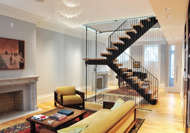 Superbe Suspended Staircase Contemporary Staircase