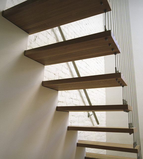 Suspended Staircase Modern Staircase New York By