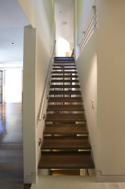 Sustainable Long Island Residence modern staircase