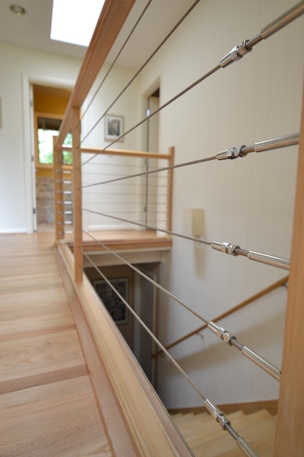 Stainless Steel Cable Railing Modern Staircase Other By Angela Todd Designs Portland Or