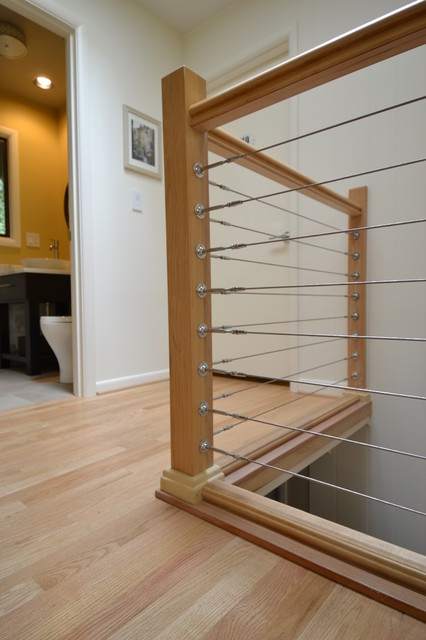 Stainless Steel Cable Railing - Modern - Staircase - other ...