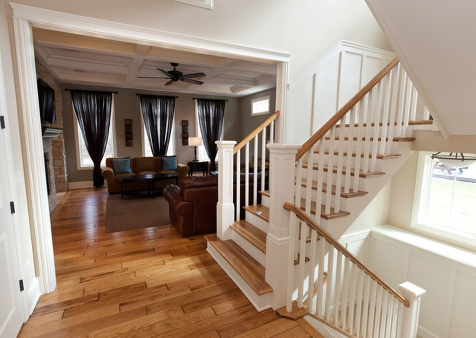 Switchback Stairs - Traditional - Staircase - Chicago - by ...