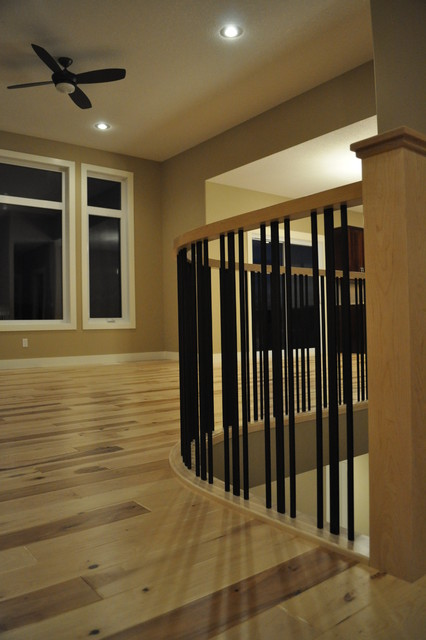 The alberta custom bungalow eclectic staircase