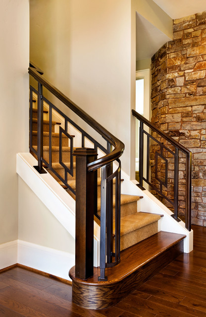 The American Dream Transitional Staircase Portland