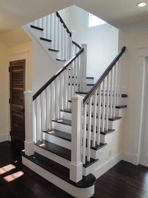 This Is An Example Of A Traditional Staircase In Miami.