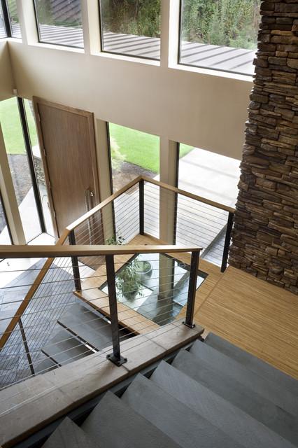 The Aurea Contemporary Staircase Portland By Alan Mascord Design Associates Inc