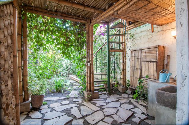 The Bambu House tropical-staircase