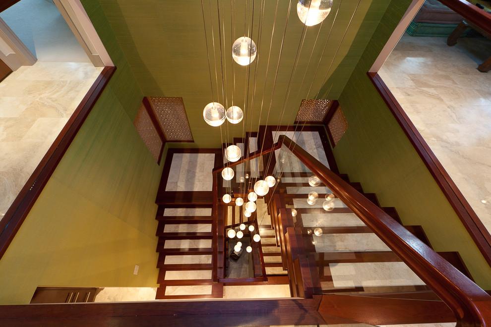Staircase - contemporary staircase idea in Edmonton