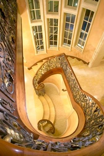 The Club at Longview mediterranean-staircase