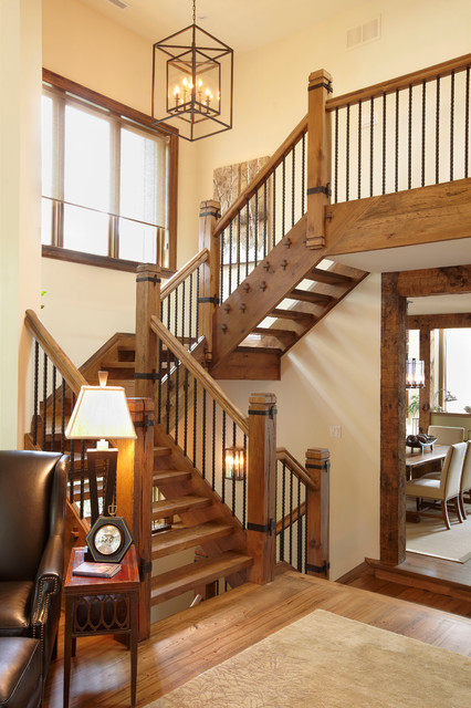 The cottage rustic staircase toronto by parkyn design - Ideal staircase ideas small interiors ...
