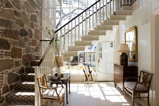 Inspiration For A Timeless L Shaped Staircase Remodel In Essex