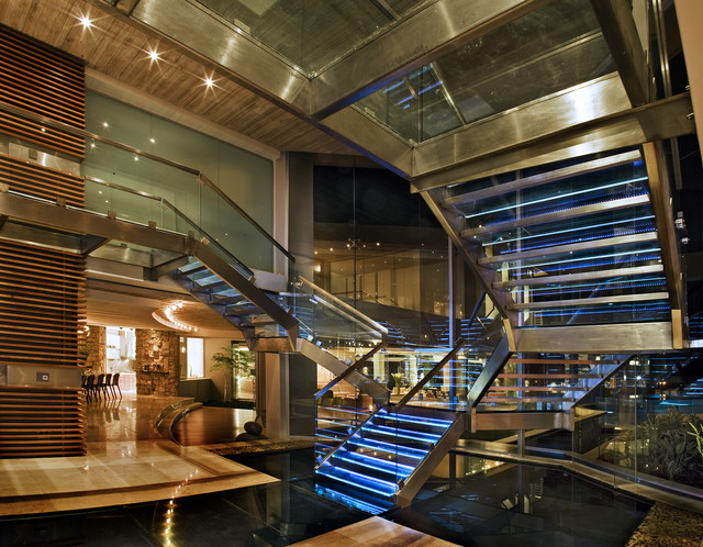 The Glass House contemporary-staircase