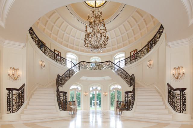 The Interior of the Rotunda greets you as you enter Le Grand Rêve mediterranean-staircase