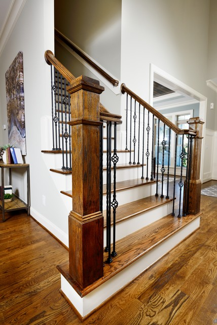 The Jensen Homeplan Traditional Staircase Raleigh
