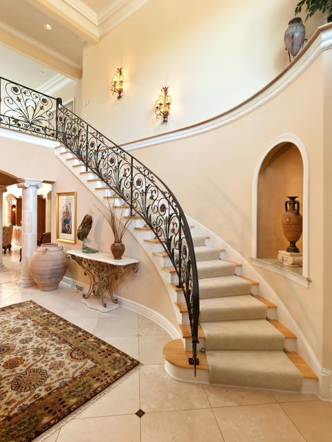 The Mediterranean Custom Home Mediterranean Staircase