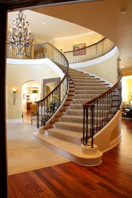 The Regency Cedar Bend Model traditional-staircase