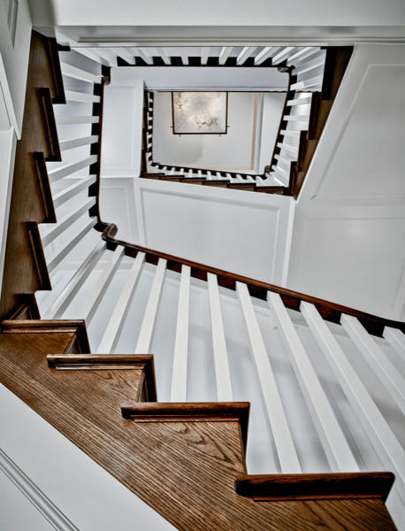 The Stone House of Bel-Aire traditional-staircase
