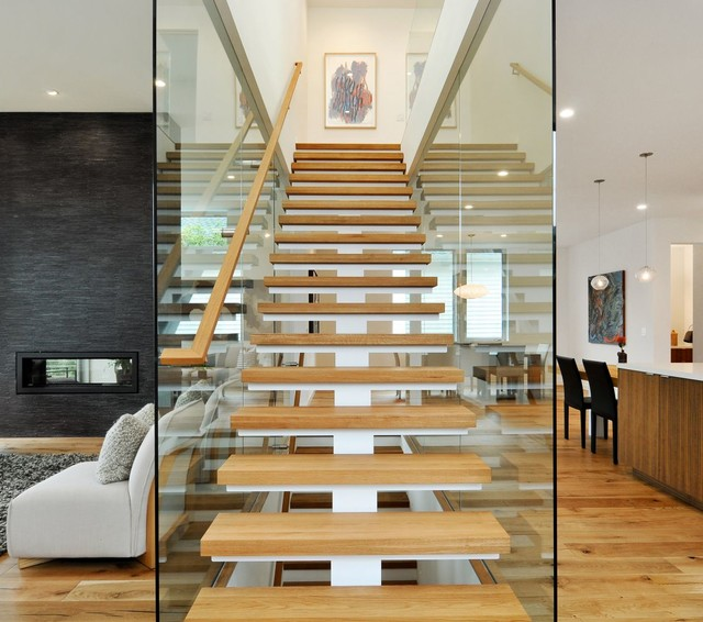 Thick Stair Treads Contemporary Staircase