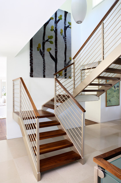 Third Story Addition midcentury-staircase