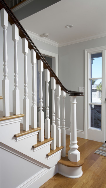 tiburon home remodel traditional-staircase