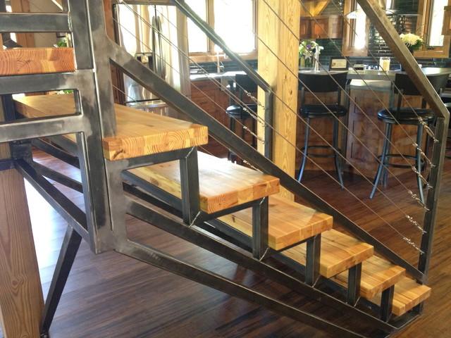 Beau Timber Frame Hybrid   Contemporary   Staircase   Albuquerque ...