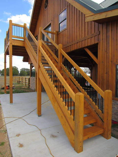 Timber Stair  Rail - Contemporary - Staircase - tampa - by Heirloom