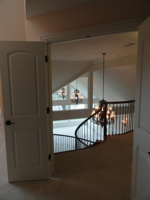 Townhome Interior traditional staircase