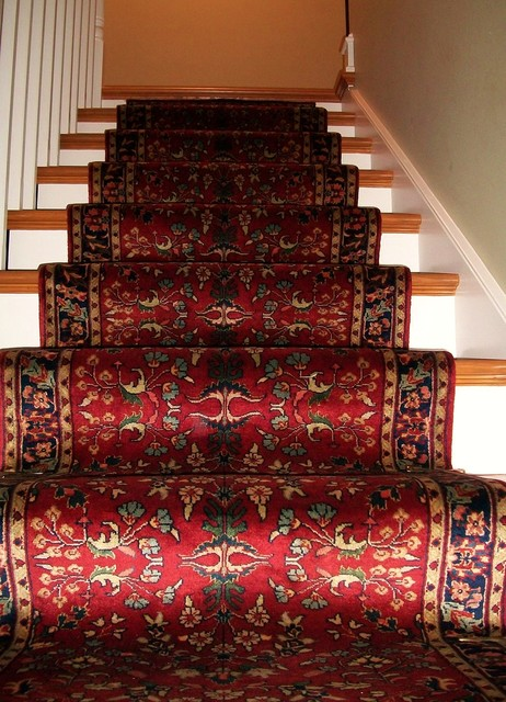 Traditional Hand Knotted Stairway Runner Staircase