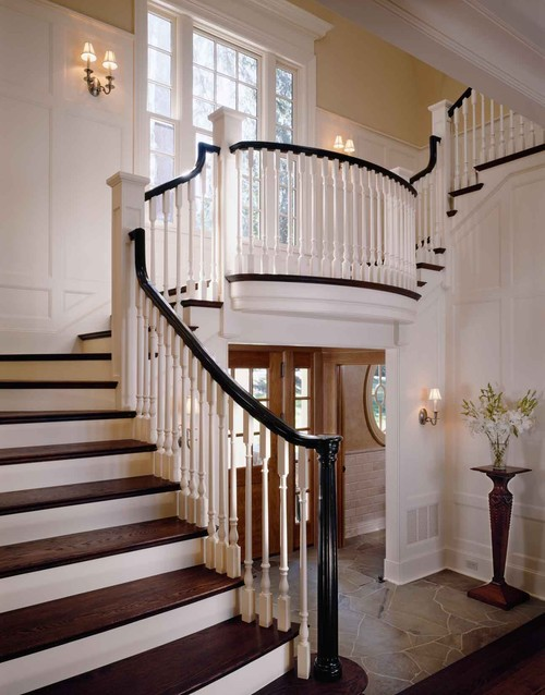 traditional staircase by Sullivan Conard Architects