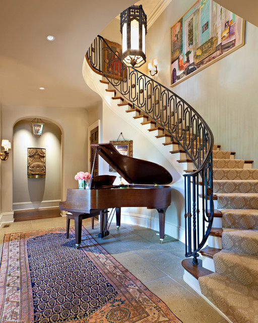 H a l l traditional staircase nashville by jason for Room design under stairs