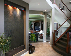 Large Water Wall for Entry traditional-staircase