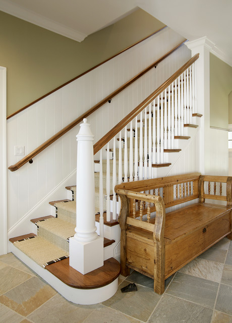 Lighthouse Newel Post Traditional Staircase Chicago