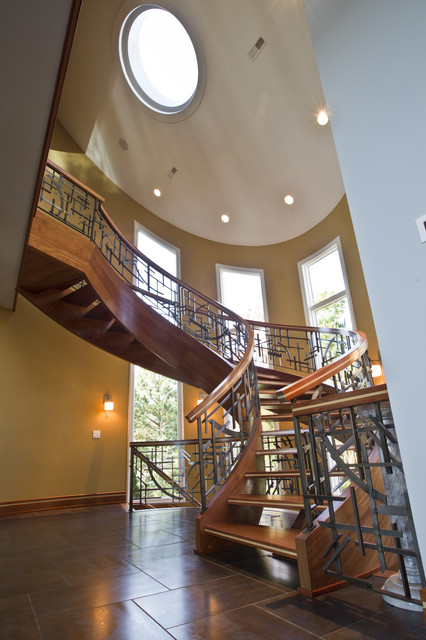 Sweeping Stair contemporary-staircase