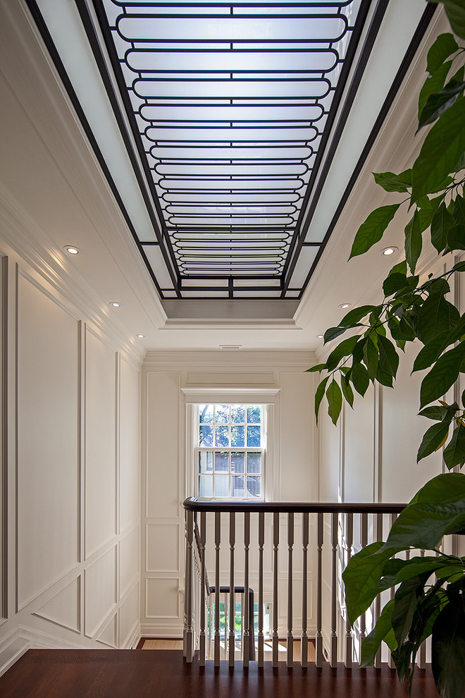 Example of a classic u-shaped staircase design in Toronto