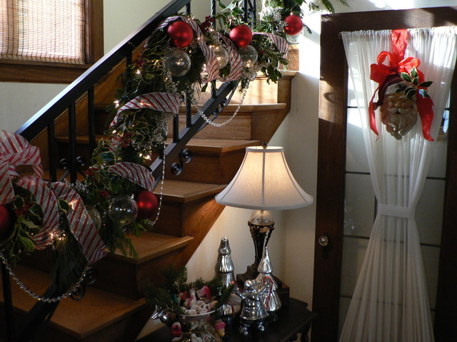 Seattle Tudor Christmas by Timothy De Clue Design L.L.C. traditional staircase