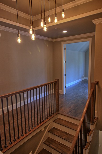 Staircase - transitional staircase idea in Dallas