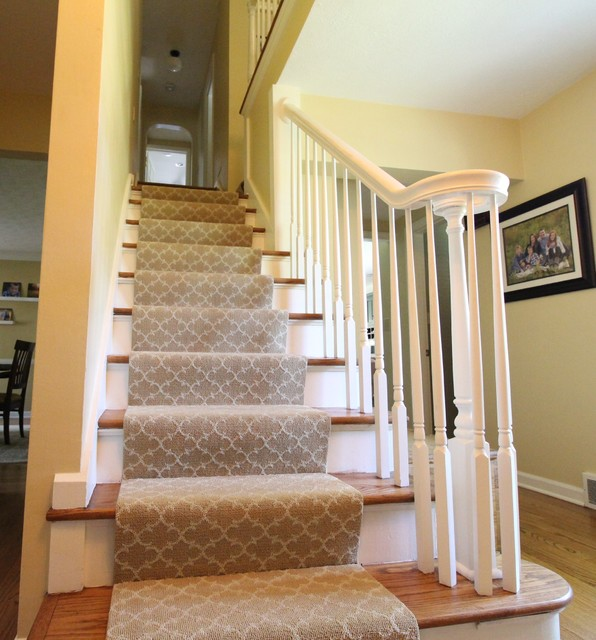 Exceptionnel Transitional Farmhouse Custom Stair Runner   Transitional ...