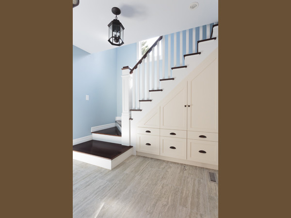 transitional kitchen tuxedo traditional staircase