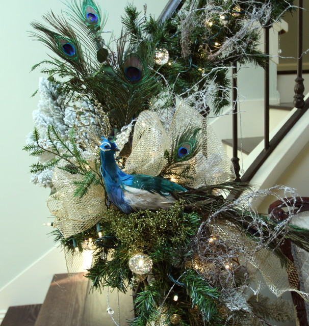 Our Staircase For Christmas 2014 Transitional Staircase San Diego By Robeson Design