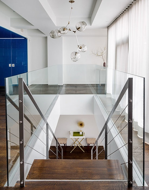 Tribeca Loft contemporary-staircase