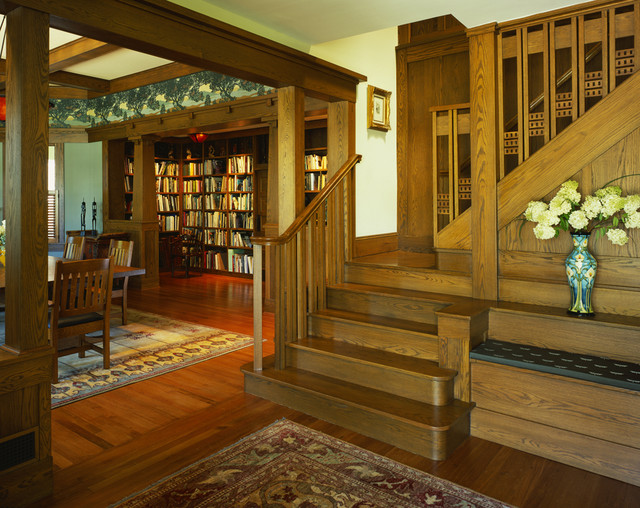 tropical craftsman traditional staircase