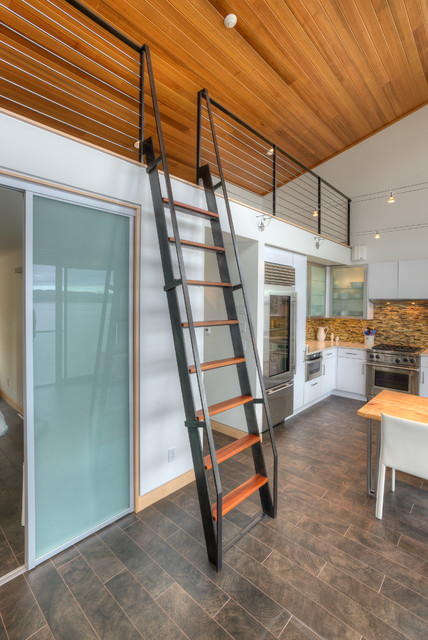 Steel Ship Ladder. Contemporary Staircase