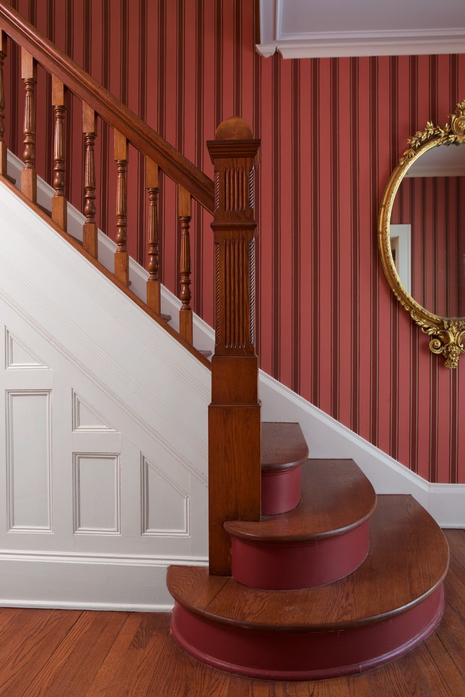 Example of an ornate staircase design in New York