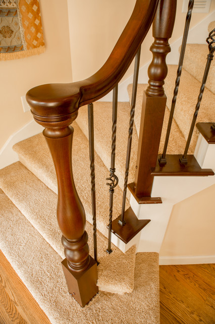 Turned Newels & Fittings traditional-staircase