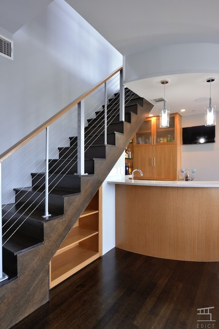 Turtle Creek Penthouse Build contemporary-staircase